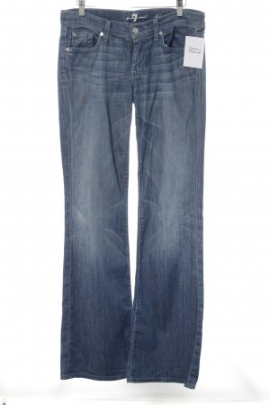 7 For All Mankind Boot Cut Jeans blau Washed-Optik