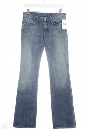 7 For All Mankind Jeans bootcut bleu style délavé