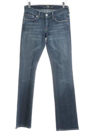 7 For All Mankind Jeans bootcut bleu foncé style déchiré