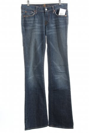 7 For All Mankind Boot Cut Jeans dunkelblau Destroy-Optik