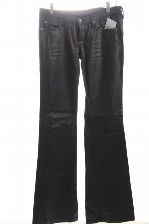 7 For All Mankind Boot Cut Jeans dunkelblau Metallic-Optik