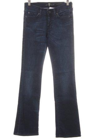 7 For All Mankind Boot Cut Jeans dunkelblau schlichter Stil
