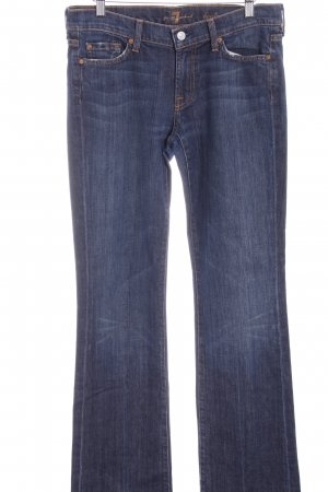 7 For All Mankind Vaquero de corte bota azul oscuro-azul acero look casual