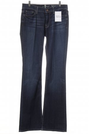 7 For All Mankind Boot Cut Jeans dunkelblau Street-Fashion-Look