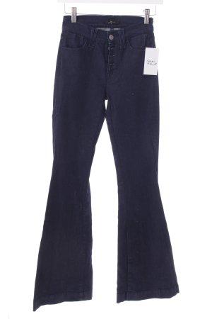 7 For All Mankind Boot Cut Jeans dunkelblau Street-Fashion-Look