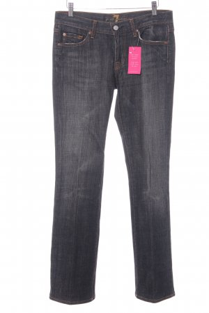 7 For All Mankind Boot Cut Jeans dunkelgrau Washed-Optik