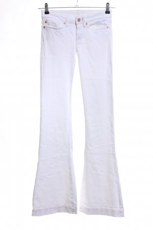 7 For All Mankind Jeans bootcut blanc style décontracté