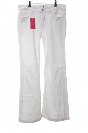 7 For All Mankind Boot Cut Jeans weiß Casual-Look