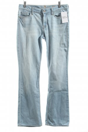 7 For All Mankind Boot Cut Jeans hellblau Street-Fashion-Look