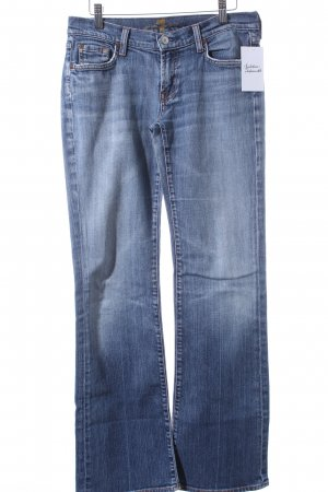 7 For All Mankind Boot Cut Jeans hellblau-wollweiß Casual-Look