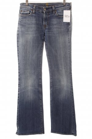 7 For All Mankind Boot Cut Jeans hellblau-wollweiß Washed-Optik