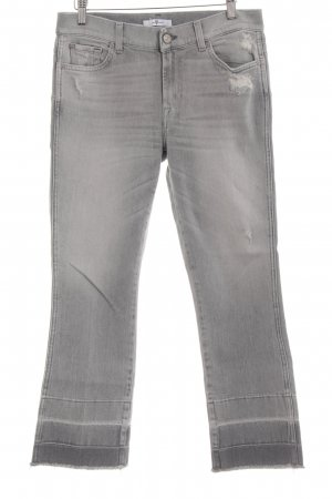 7 For All Mankind Jeans bootcut gris clair style décontracté