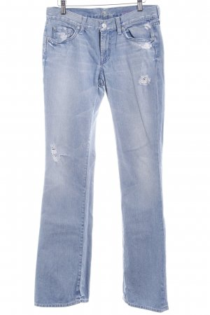 7 For All Mankind Vaquero de corte bota azul celeste estilo country