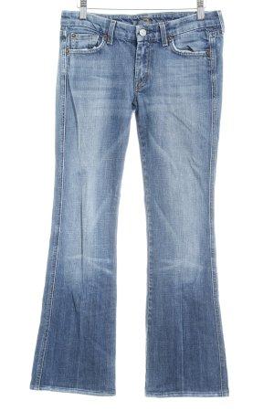 7 For All Mankind Jeans bootcut bleu azur-bleuet style rétro