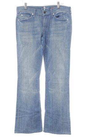 7 For All Mankind Boot Cut spijkerbroek korenblauw-lichtblauw simpele stijl
