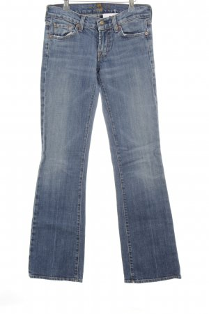 7 For All Mankind Vaquero de corte bota azul aciano look casual