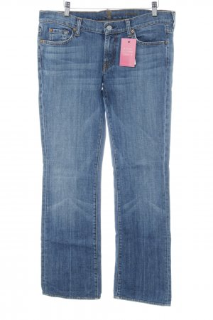 7 For All Mankind Jeans svasati blu fiordaliso stile casual
