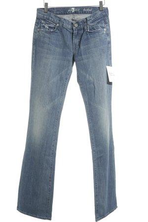 7 For All Mankind Boot Cut Jeans kornblumenblau klassischer Stil