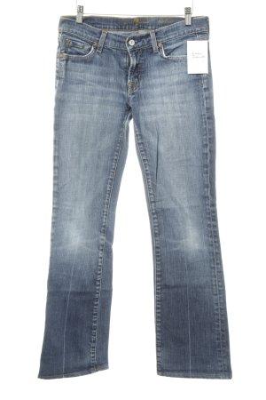 7 For All Mankind Boot Cut Jeans kornblumenblau Metallelemente
