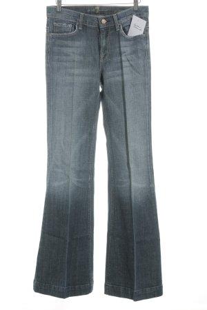 7 For All Mankind Boot Cut Jeans kornblumenblau-stahlblau Casual-Look