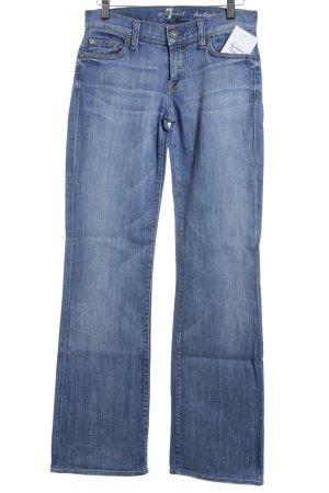 7 For All Mankind Boot Cut Jeans kornblumenblau Street-Fashion-Look