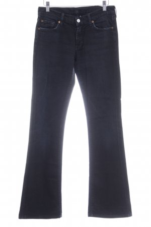 7 For All Mankind Vaquero de corte bota negro look casual
