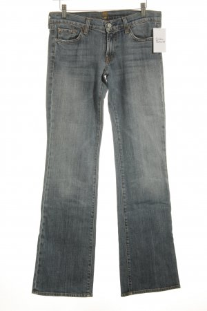 7 For All Mankind Boot Cut Jeans stahlblau Bleached-Optik
