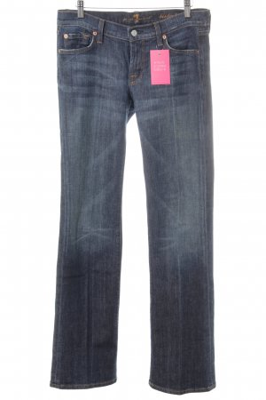 7 For All Mankind Jeans svasati blu acciaio stile casual