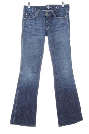 7 For All Mankind Jeans bootcut bleu acier style décontracté