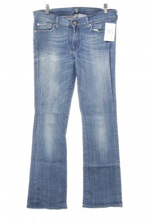 7 For All Mankind Vaquero de corte bota azul acero look casual
