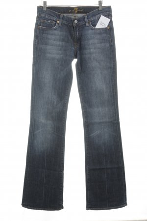 7 For All Mankind Boot Cut Jeans stahlblau-dunkelblau Casual-Look