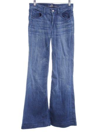 7 For All Mankind Boot Cut Jeans stahlblau-graublau Washed-Optik