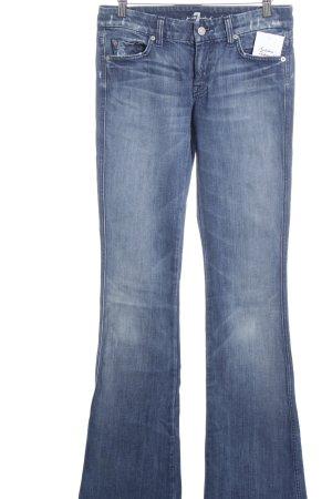 7 For All Mankind Boot Cut Jeans stahlblau-kornblumenblau Casual-Look