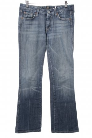 7 For All Mankind Boot Cut Jeans stahlblau Logo-Applikation