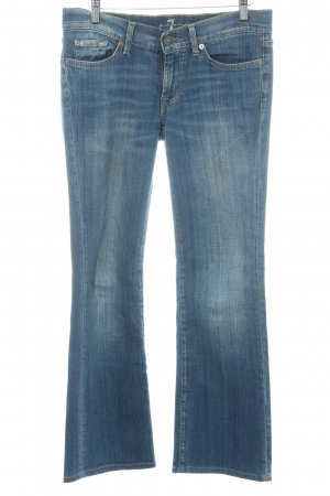 7 For All Mankind Vaquero de corte bota azul acero look lavado