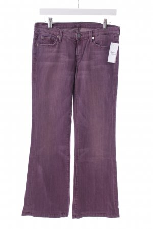 7 For All Mankind Boot Cut Jeans violett Washed-Optik