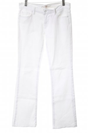 7 For All Mankind Boot Cut spijkerbroek wit casual uitstraling