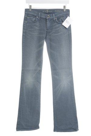 7 For All Mankind Boot Cut spijkerbroek wit-leigrijs gestippeld Boho uitstraling