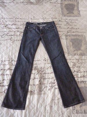 7 For All Mankind Jeans svasati blu scuro-petrolio Cotone