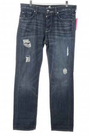 7 For All Mankind Boyfriend Jeans blue second hand look