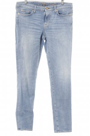 7 For All Mankind Vaquero boyfriend azul celeste-blanco puro estilo boyfriend
