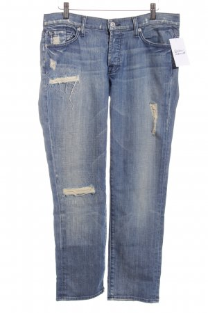 7 For All Mankind Boyfriendjeans kornblumenblau Boyfriend-Look