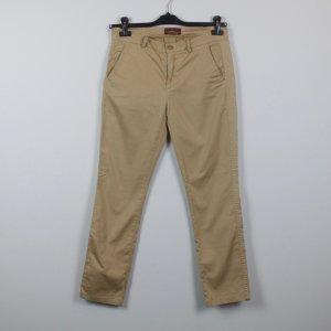 7 For All Mankind Pantalone chino beige-color cammello Cotone