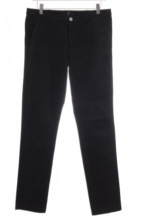 7 For All Mankind Chinohose schwarz Casual-Look