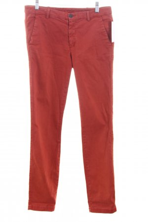 7 For All Mankind Pantalone chino rosso mattone stile boyfriend
