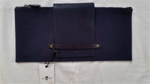 7 for all mankind, Clutch, Canvas/Leder, Navy, neu, € 350,-