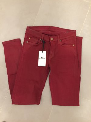 7 for all mankind coated Jeans 25 rot The skinny