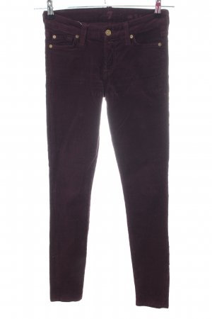 7 For All Mankind Pantalon en velours côtelé brun style décontracté