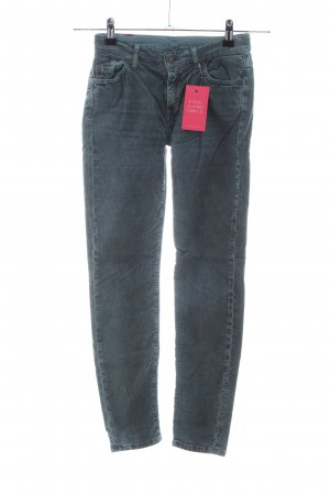 7 For All Mankind Pantalon en velours côtelé bleu style décontracté