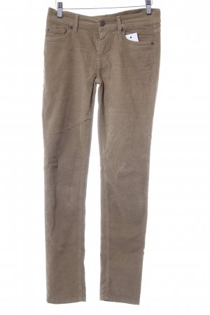 7 For All Mankind Pantalon en velours côtelé beige style simple